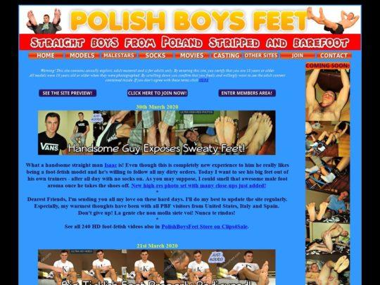 Polish Boys Feet